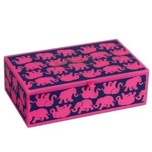 """Lilly Pulitzer """"Tusk in Sun"""" glass box #144206"""